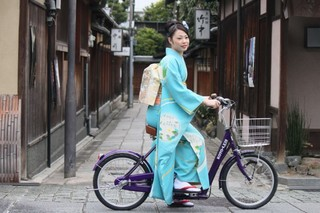 $☆えり~の着物☆浴衣☆和モノ☆ 着物自転車 高齢者用自転車
